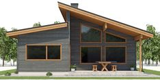 Narrow house plan with four bedrooms, modern architecture, Narrow House Plans, Barn House Plans, House Plans One Story, Craftsman House Plans, Dream House Plans, House Floor Plans, Modern Floor Plans, Contemporary House Plans, Modern House Plans