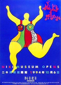 NIKI DE SAINT-PHALLE: - Affiche Niki Museum opens, 203 Yumoto nasu Tochigi Japan,