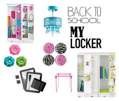 """my locker"" by emma-kittykat on Polyvore featuring interior, interiors, interior design, home, home decor, interior decorating, BackToSchool and lockerdecor"