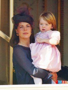 Caroline de Monaco with Alexandra