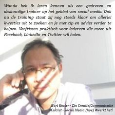 Recommendation Bart Koster | Zin Creatie|Communicatie