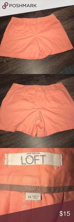 """LOFT Shorts Size 14 EUC LOFT Shorts Size 14 EUC. Coral color. Measures approximately 19"""" across waist with a 6"""" inseam LOFT Shorts"""