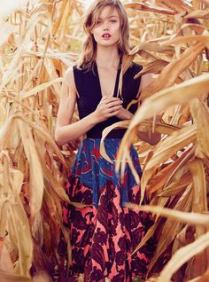 Lindsey Wixson Stars in Vogue Australia's December Issue #winter #fashion trendhunter.com