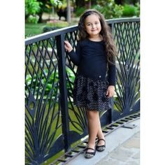 Beatiful black Children's Dress with black flowers  - Wholesale Childrens Clothing  #WholesaleChildrensClothing #KidsFashion #WholesaleDress #WholesaleKidsClothingDistributors