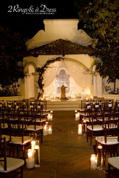 I love this for an outdoor wedding. Our city park has an outdoor stage in the Early California style where this could easily be implemented.