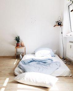 floor bed in minimalist bedroom