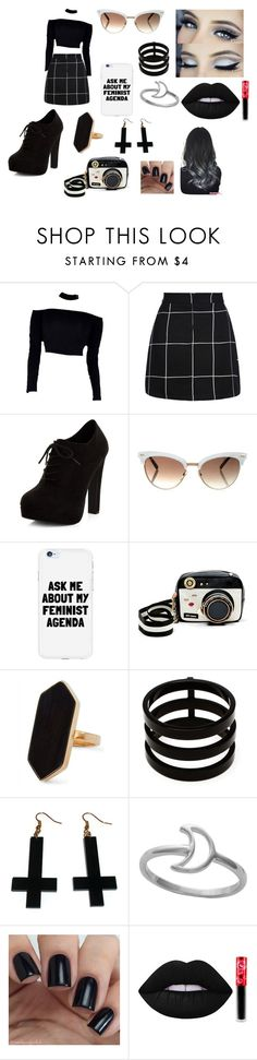"""Black and White Cookie"" by thatgothchic on Polyvore featuring New Look, Gucci, Betsey Johnson, Jaeger, Repossi, Chicnova Fashion, Midsummer Star and Lime Crime"