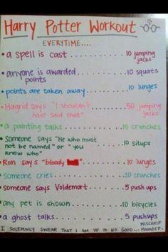 Harry Potter Movie Workout