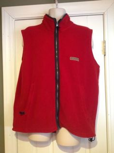 Abercrombie-Fitch-Vintage-Red-Fleece-Vest-Mens-Size-XL