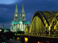 Cologne Cathedral And Hohenzollern Bridge Germany  #And #Bridge #Cathedral #Cologne #Germany #Hohenzollern