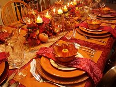 Thanksgiving and fall table~