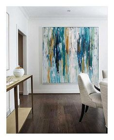 LARGE ORIGINAL Hand Painted Painting Abstract Art Acrylic