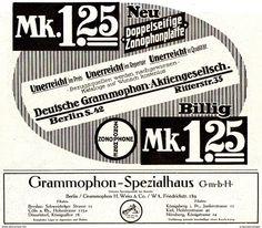 Original-Werbung/ Anzeige 1914 - DEUTSCHE GRAMMOPHON / SPEZIALHAUS - BERLIN / ZONOPHONE PLATTEN -  Ca. 240 X 210 Mm - Werbung