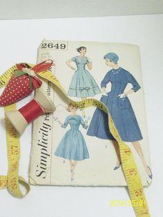 Vintage1950's Simplicity Dress Pattern  by TheVintageDresser
