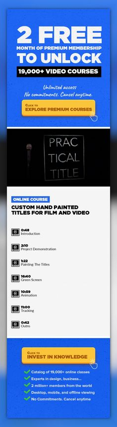 Custom Hand Painted Titles For Film and Video Animation, Adobe After Effects, Film Production, Filmmaking, Creative, Title, Letttering #onlinecourses #onlinecollegedegrees #onlinecoursescareer   Often, new film makers are discouraged when they realize they can't recreate the snazzy title work of the Hollywood films they know and love. This class will develop the techniques and creativity necessa...