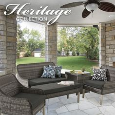 Give your #outdoor oasis a makeover with the shabby-chic Heritage conversation collection.