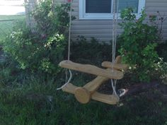 Hey, I found this really awesome Etsy listing at https://www.etsy.com/listing/210330704/kids-airplane-tree-swing