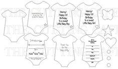 baby mini onesie templates -