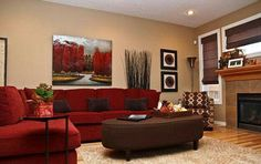 Red Living Room Decor Inspirational Color