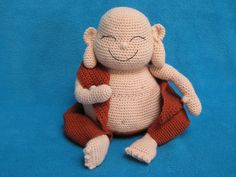 Amigurumi Laughing Buddha Happy Monk Doll Toy PDF by Millionbells