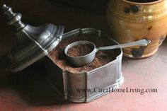 PEWTER – Pewter Coffee Scoop I love the coffee container too Coffee Box, Coffee Talk, Coffee Brewer, V60 Coffee, Coffee Cups, Coffee Maker, Coffee Canister, Coffee Container, Cheap Coffee
