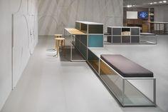 Tecno, Exhibitions, Shelves, Home Decor, Shelving, Decoration Home, Room Decor, Shelf, Interior Design