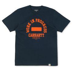 Carhartt WIP Campus T-Shirt - Navy/Orange