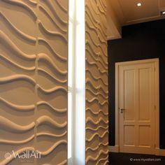 Pannelli tridimensionali wallart waves dal design moderno ed accattivante confezione da mq.3.
