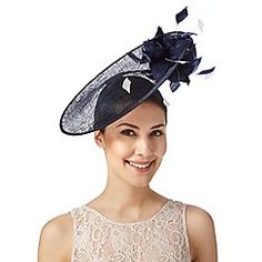 eeeacf6ce27 J by Jasper Conran Designer navy two tone flower saucer fascinator