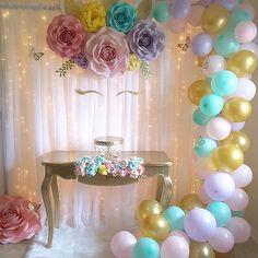 #paperflowers #handmade #paper #paperflorist #paperflowersbackdrop #unicornparty #unicorn #unicornioparty #unicornio #unicornbackdrop #floresdepapel #ballons #partydecorations #birthdaygirl #birthdaydecoration #backdroprentals #northcarolina
