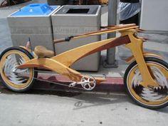 wooden bike chopper