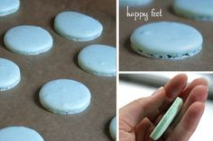 Finally my macarons are getting beautiful, thanks for this .-Endlich werden meine Macarons wunderschön, danke für dieses tolle Rezept ♥ Finally my macarons are getting beautiful, thanks for this great recipe ♥ - Cupcake Recipes, Cookie Recipes, Cupcake Cakes, Dessert Recipes, Cupcake Frosting, French Macaroons, Sweet Bakery, Cake & Co, Cakes And More