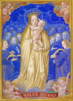 The Virgin and Child in Glory with the message Salve Regina (Hail Holy Queen), from the Sforza Hours, produced in Milan c. 1490 / British Library