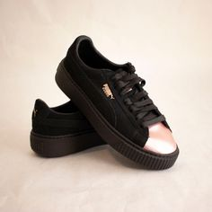 Womens Puma Suede Rose Gold Cap Toe Platform Creepers Sneakers size 7.5   fashion  clothing  shoes  accessories  womensshoes  athleticshoes (ebay  link) f0c16d7939