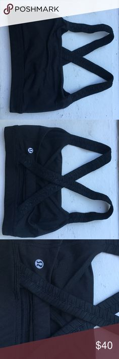 Black lululemon sports bra Black sports bra. Fairly new and only worn a few times. Perfect condition. Very supportive. lululemon athletica Intimates & Sleepwear Bras