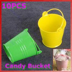 Free Shipping 10pcs/lot Mini Cute Chocolate Candy Bucket Keg Wedding Party Favors Kisses DIY 38.65 \4.64$