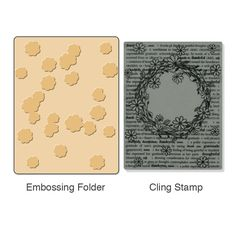 Sizzix.com - Sizzix Textured Impressions Embossing Folder w/Stamp - Floral Wreath Set