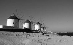 Get in line. #Mykonos #mykonosisland #mykonosgreece #cyclades #cyclades_islands #picoftheday #greekislands #travel #travelphotography #travelgram #Greece #windmills
