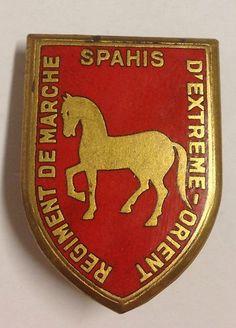 Indochina War, the regiment insignia walking spahis