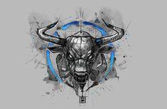 Fox Sketch Watercolor Psdelux by psdeluxe on DeviantArt Taurus Bull Tattoos, Bull Skull Tattoos, Bull Skulls, Body Art Tattoos, Sleeve Tattoos, Tatoos, Ox Tattoo, Arm Band Tattoo, Tattoo Sketches