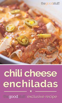 Chili Cheese Enchiladas (Exclusive Recipe)   thegoodstuff