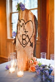 rustic wedding ideas wedding party table center piece <3 Lyndsey & Zach!