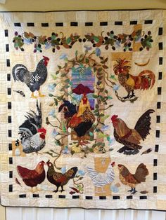 Handmade Rooster Quilt