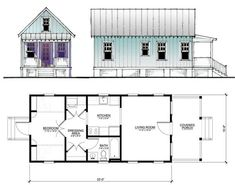 Katrina Cottage Floor Plans Plans not to scale Drawings are