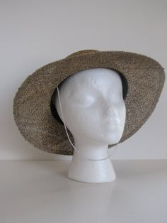 Vintage Womens Straw Summer Sun Hat with by BertasAccessories, $19.99