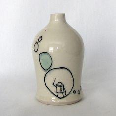 Bubble Robot Bud Vase by 5pm Studio