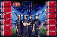 Calendarios para Photoshop: Calendario para el 2016 del Atlético de Madrid par...