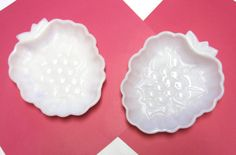 Milkglass White Dish Bowl Set of Two Hazel by sweetie2sweetie, $9.99 1950's