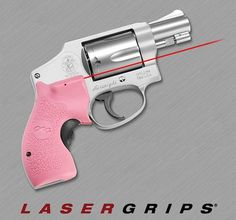 Pink Lasergrips for Smith & Wesson J-Frame Round Butt   | Fits Smith & Wesson Airlight, Airweight, Bodyguard, Chief's Special, Centennial, Ladysmith, Models 36, 37, 38, 49, 60, 63, 317, 331, 332, 337, 340, 342, 351, 360, 442, 637, 638, 640, 642, 649, 651 and 940. Round butt only.     LG-105 Pink laser sights for the wildly popular Smith & Wesson J-Frame revolver line feature a hard polymer surface that is rugged and well suited for personal defense.