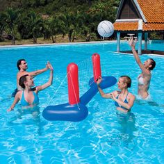 pool volleyball set, summer sports water swim: Enjoy volley ball with your family and friends in the pool Pool Volleyball Net, Volleyball Games, Sports Toys, Kids Sports, Fun Water Games, Inflatable Pool Toys, Net Games, Pool Equipment, Pool Cleaning